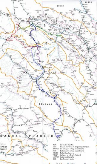 Itineraires au Ladakh et Zangskar qui peuvent se substituer à la GTZ historique