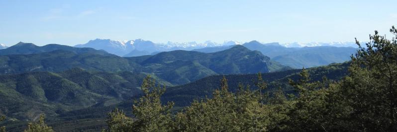 Panorama sur les Alpes depuis le col Saint-Jean