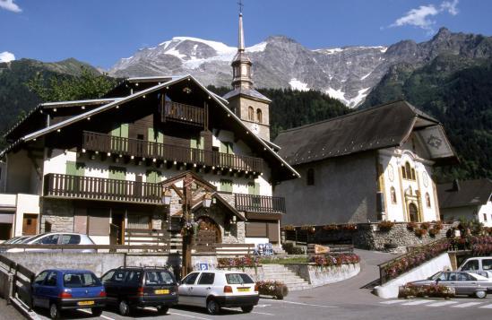 Le centre du village des Contamines-Montjoie