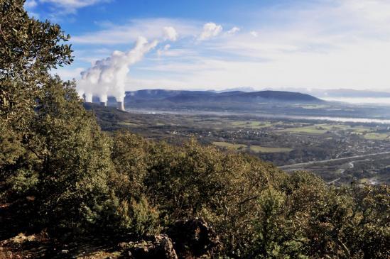 La plaine de la Valdaine vue depuis la crête de Gringalon