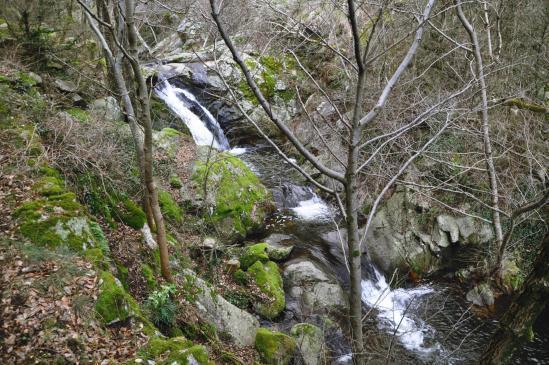 Les cascades du ruisseau de Vendèze