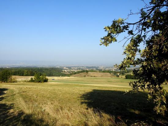 Au départ du col de Toutes Aures (vue sur la plaine de Romans)