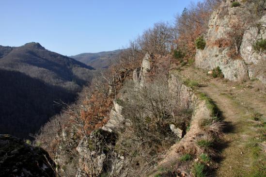 Au-dessus du hameau du Sablas (serre de Tremoulias)