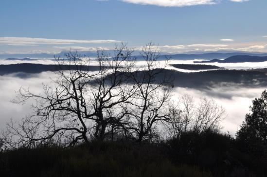 Au départ de Flaviac, la mer de nuage est encore bien présente...