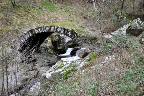 Le pont (pas romain pour un sou...) sur le ruisseau de Vendèze