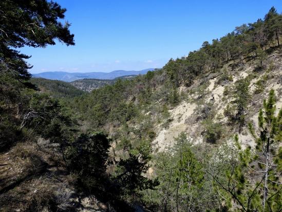 Sur le sentier à l'approche du col de la Tuilière