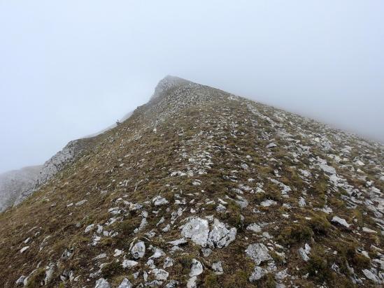 Le sommet du But de Nève (dans le brouillard...)