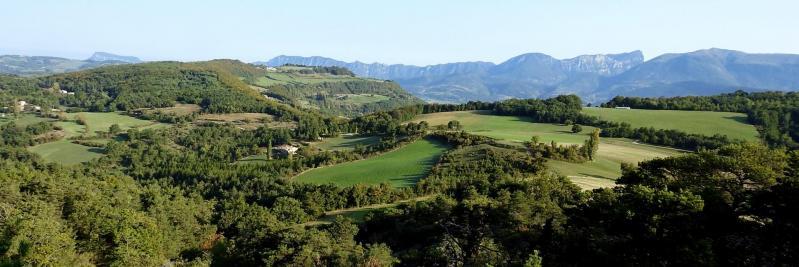 Vue depuis le col de Vesc (Trois-Becs et Couspeau)