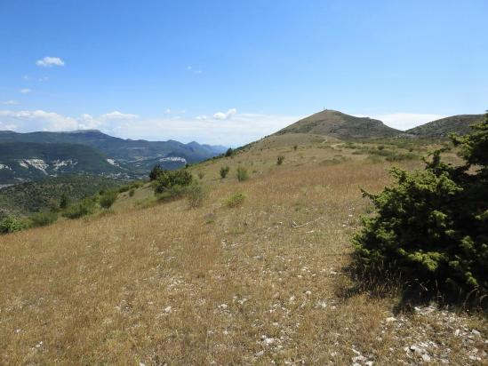 Le sommet de la montagne de Bergiès vu depuis la Serrière de Piberos