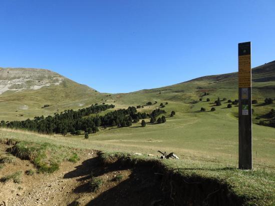 Le col de Jiboui avec à l'horizon le Mont Barral