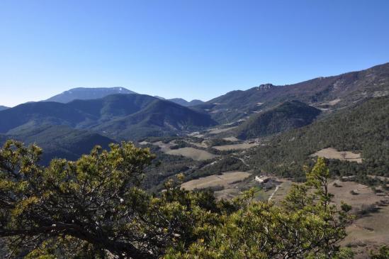 La montagne d'Angèle et le col de Muse vus depuis le sentier-balcon de Chaffoix
