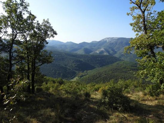 La Lance vue depuis la voie de descente de la montagne de Doublèze