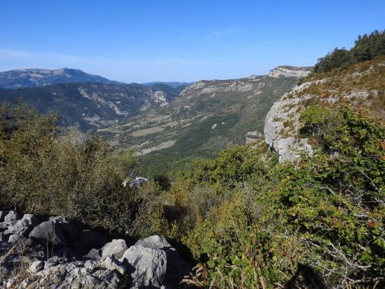 La vallée du ruisseau d'Aiguebelle vue depuis le Pas du Pousterlou