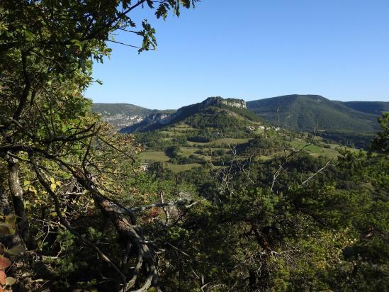 Gigors et le lateau du Savel vus depuis la montée à Saint-Pancrace
