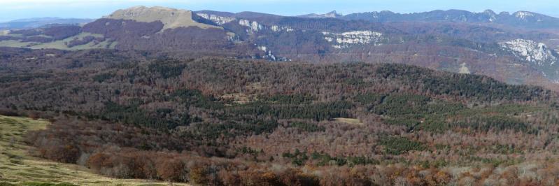 Panorama vers l'W depuis le GR93