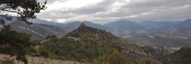 A l'approche de la tour de Bézaudin