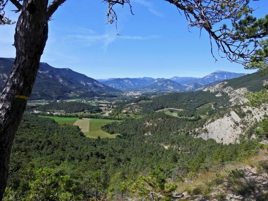 Sur le sentier d'ascension vers le Rocher de l'Aguille (Die et les remparts S du Vercors)