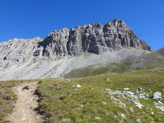Dans la montée vers le Pas de Picheru