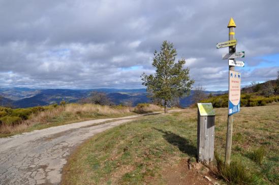 Les Croix de Gruas (belvédère sur le nord de l'Ardèche)