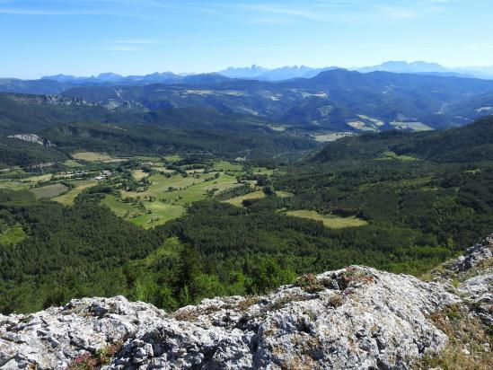 Le Dévoluy vu depuis le sommet du Serre de Beaupont