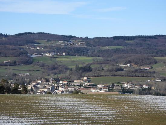 Depuis la ferme de Rosières, vue plongeante sur Alboussière