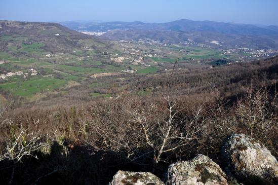 Au col du Peronnier (vue sur la vallée de la Payre et Privas)