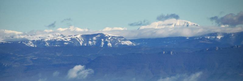 Panorama depuis la crête du serre de Gruas