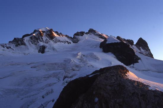Coucher de soleil sur le massif de la Meije