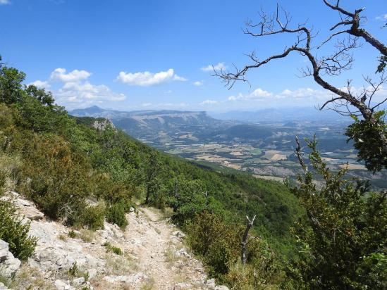 La vallée du Buëch vue depuis le belvédère en contrebas du Suillet