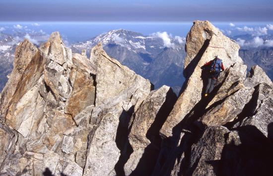 Au sommet de l'Aiguille du Tour (à l'arrière le Mont Buet)