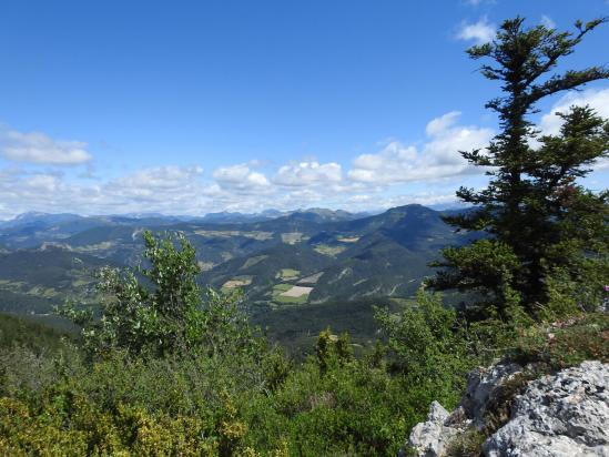 Le sud Vercors vu depuis la crête de la montagne de Sarcéna