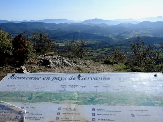 La vallée de la Gervanne vue depuis la croix de Saint-Pancrace