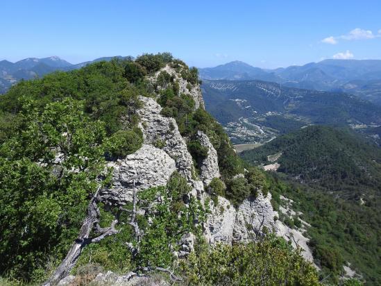 Sur la crête de la montagne d'Essaillon