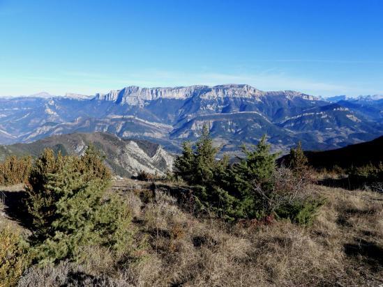 Au sommet de la montagne de Gavet (montagne du Glandasse)