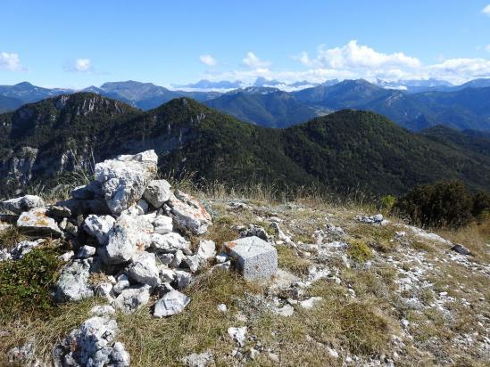 Le Dévoluy vu depuis le sommet de la Grésière