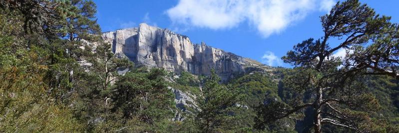 Depuis Les Caux, vue sur le Roc d'Ambane