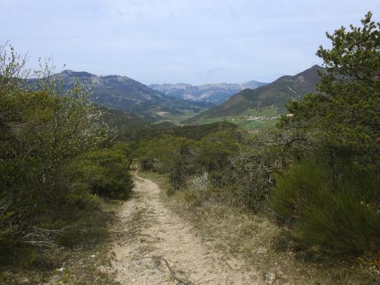 A l'approche du sommet de la montagne des Condamines (La vallée de Quint à l'arrière)
