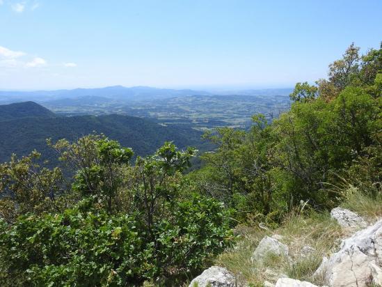 Au sommet de Garde-Grosse, le plateau de Vaison-la-romaine