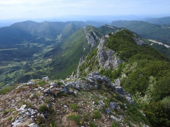 La montagne de Bouchère vue depuis le point culminant des rochers de la Sausse à 1450m