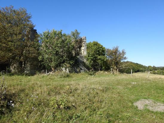 Les ruines du Chaffal à l'extrémité N du plateau du Vellan