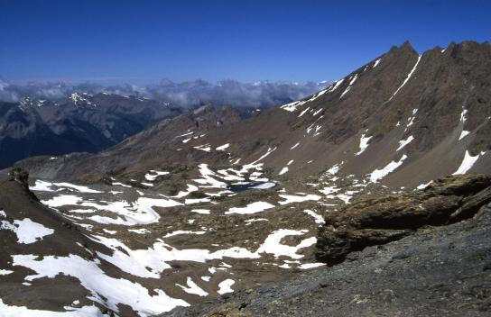 Au sommet de la Tête de Fréma à 3151m (Lac Noir et Pointe d'Aval)