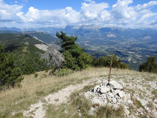 Vue sur le Diois depuis le sommet de La Pâle