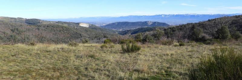 Panorama depuis le commet du serre de Blacher