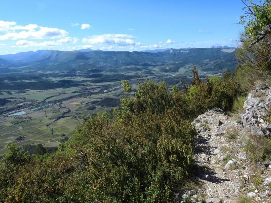 La vallée du Bès vue depuis le Pié de Boeuf