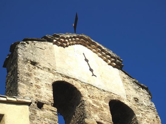 Le clocher de l'église de Vieux-Suze