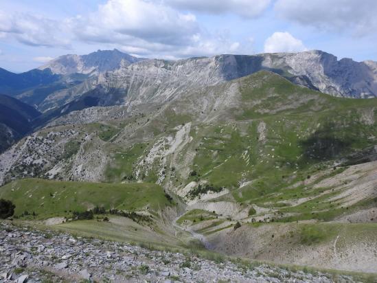 Entre Coste Folle et Coste Belle, on domine le vallon de Chaudun