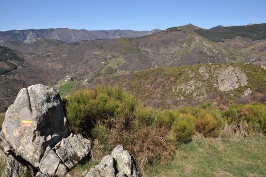 Sur les landes d'altitude entre les hameaux de Gamondès et de Conchis