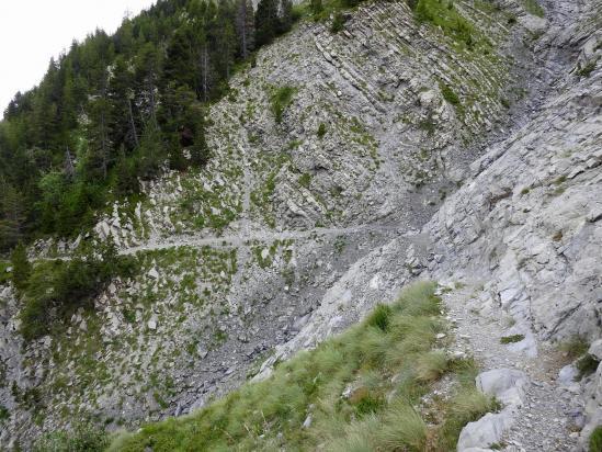 La traversée du ravin du Villard