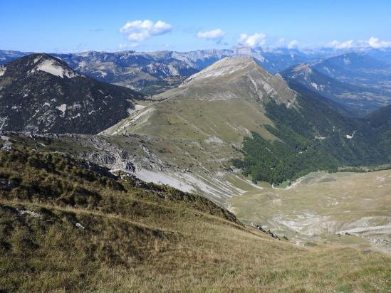 Un peu plus haut dans la montée entre le col de Seysse et la crête du Jocou (parcours sans patous...)