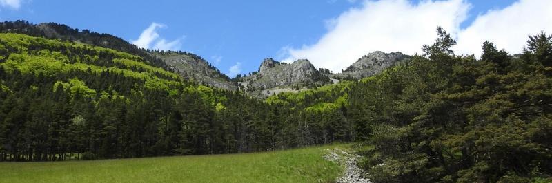 Sur la piste de descente du vallon de Combeau